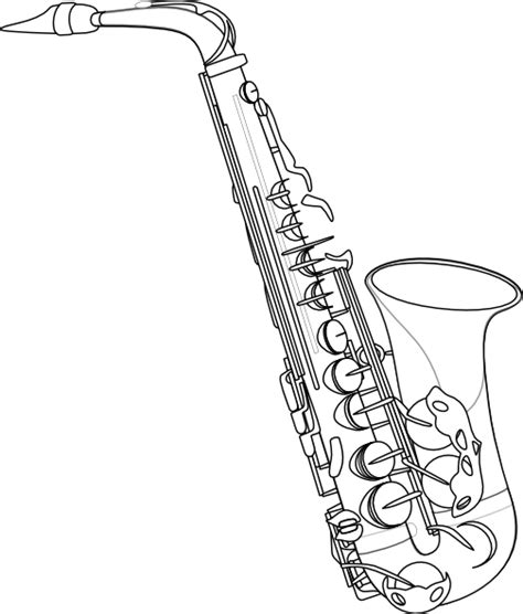 saxophone free colouring pages