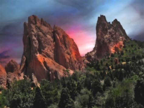 Garden Of The Gods Sunset Sunset At Garden Of The Gods Photograph By Bill Marder