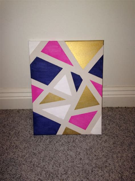pattern canvas art diy canvas art apply painters tape randomly around a