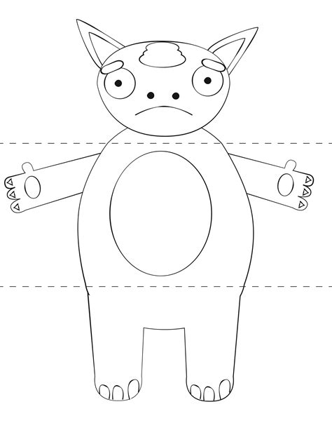 template montser free craft template make your own monsters print