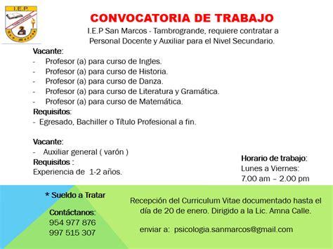 convocatoria para servicio de convocatoria de empleo 171 boletin digital de la universidad