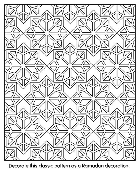 coloring pages patterns and designs islamic patterns crayola co uk