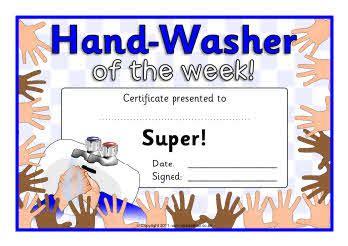Design My Own Home hand washer award certificates sb6379 sparklebox