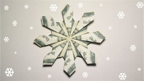 snowflake origami easy easy money snowflake origami dollar tutorial diy