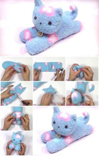 sock cat how to make diy easy sock cat step by step tutorial usefuldiy
