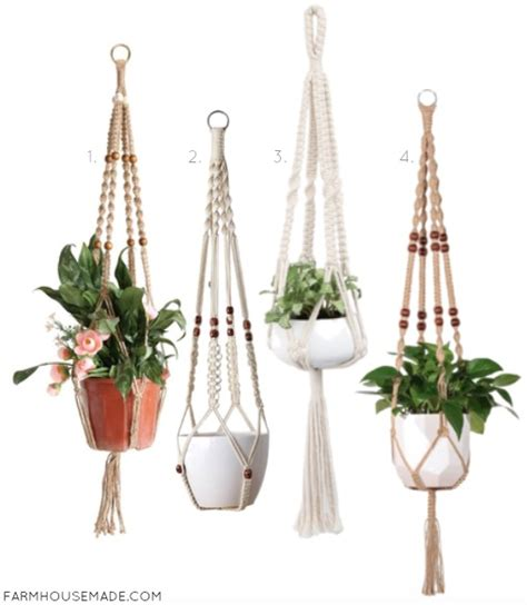Where To Buy Macrame Plant Hangers - adorable affordable macrame plant hangers farmhouse made
