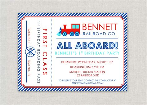 train invitations 1700 train announcements invites party