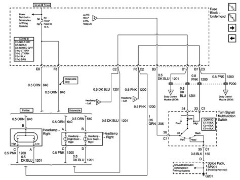 2004 pontiac grand am headlight wiring diagram with am