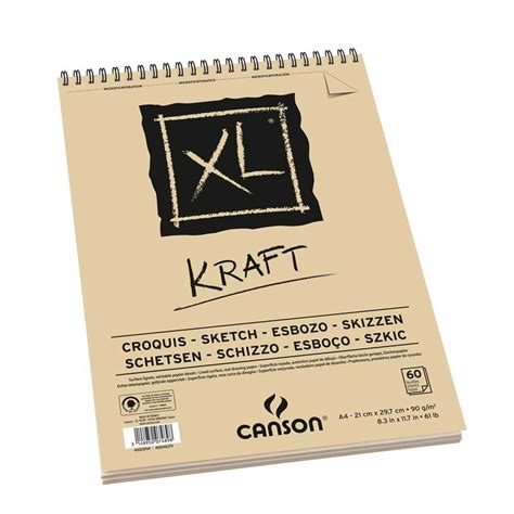 xl sketchbook xl 174 kraft canson