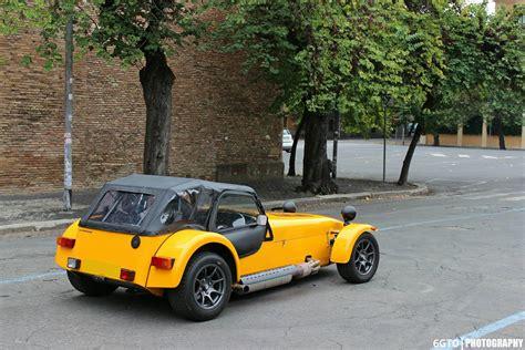 caterham road yellow caterham roadsport 125 photoshoot in rome gtspirit