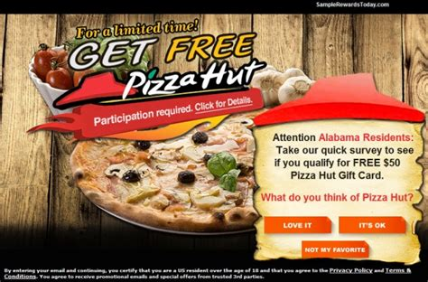Get Gift Cards For Watching Ads - get a free 100 pizzahut gift card facebook scam