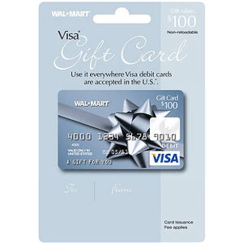 Wal Mart Visa Gift Card - 100 walmart visa gift card service fee included gift cards unused walmart com