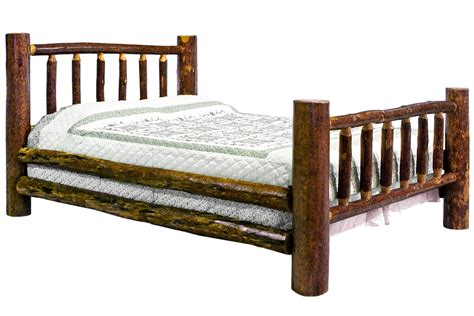 twin log bed glacier log bed twin