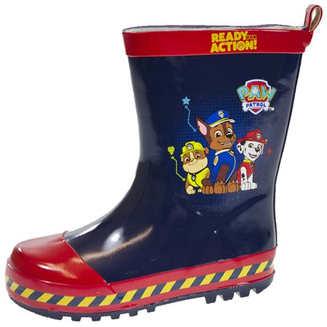paw boots for boys paw patrol wellington boots blue rubber wellies