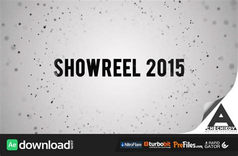 showreel broadcast package videohive template free