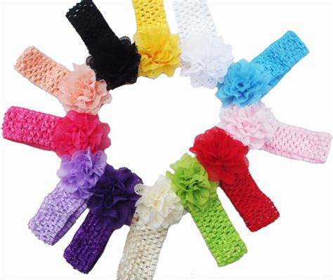 All Dressed Up Crocheted Hairclips by Promotion 10pcs Lot Lace Chiffon Hollow Out Flower Crochet
