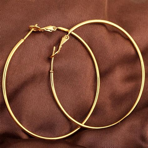 color hoop aliexpress buy yazilind vogue gold color