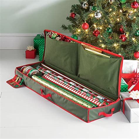 buy real simple 174 holiday gift wrap under bed wrapping