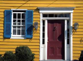 Yellow House With Blue Door by Red Door Blue Shutters Yellow House Washington Virginia