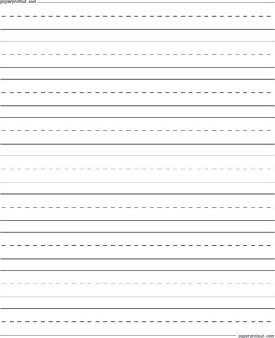printable lined paper front and back penmanship paper free printable penmanship paper