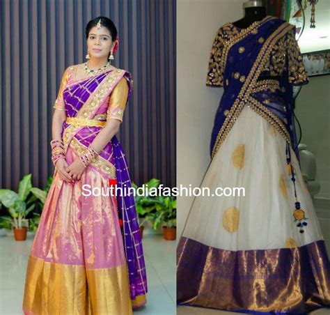 Wedding Lehenga Borders heavy border kanjeevaram bridal half sarees lehengas