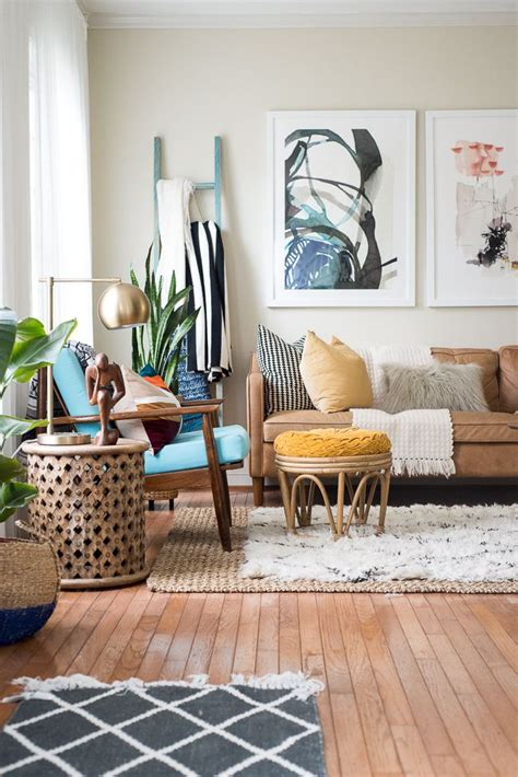 fall home   eclectic living room boho living