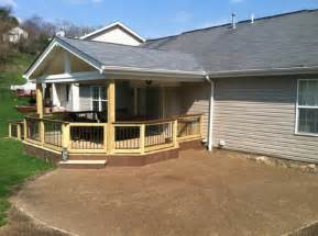 This deck roof is a gable to match the house