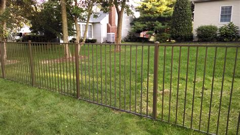 fencing sections classic 48 inch 2 rail aluminum fence section fences 4