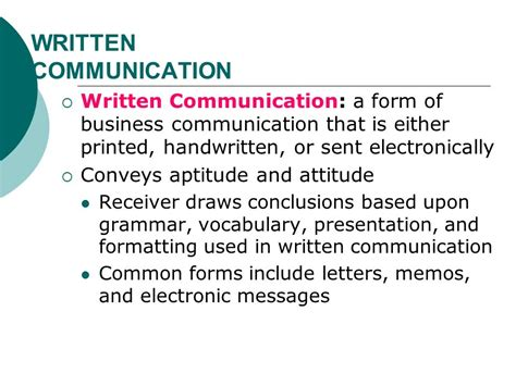 Business Letter You Attitude Chapter 9 Communication Ppt