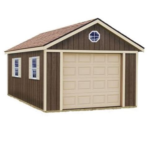best barnssierra 12 ft x 24 wood garage kit without floor