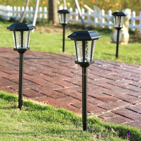 25 H Large Outdoor Solar Led Pathway Landscape Lights In Large Outdoor Solar Lights