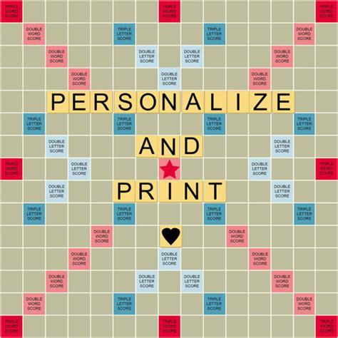 free printable scrabble board personalize print a scrabble styled board for