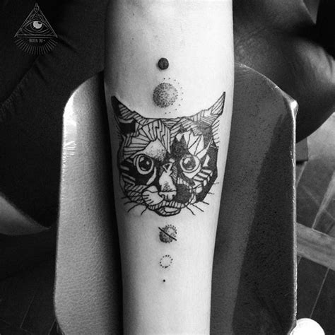 black and white cat tattoo collection of 25 black and white angry cat
