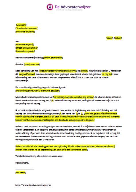 brief opstellen salarisverhoging voorbeeldbrief aansprakelijkstelling gratis de advocatenwijzer