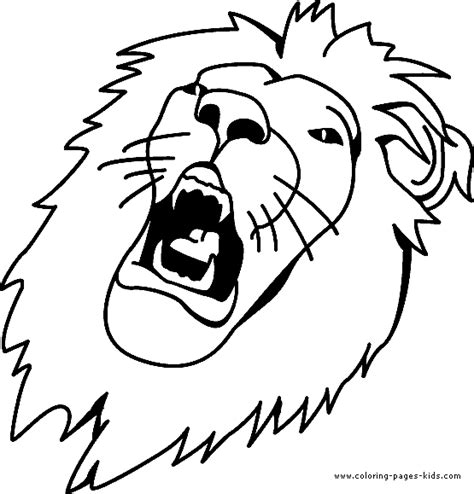 roaring lion coloring page realistic lion roaring coloring pages