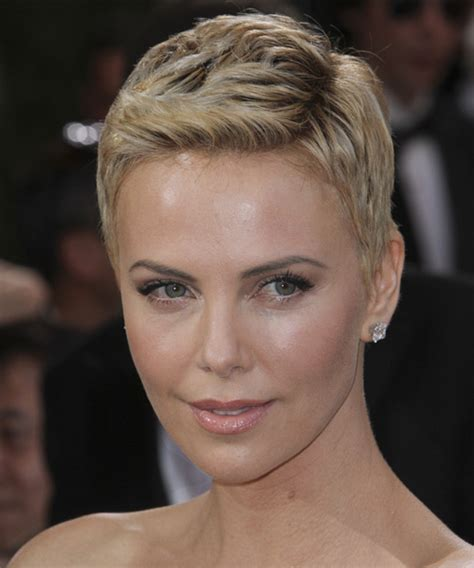 Charlize Theron Hairstyles by Charlize Theron Casual Hairstyle Light