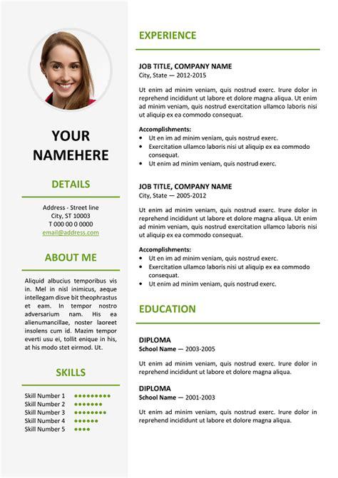 Resume Pattern For Job by Ikebukuro Elegant Resume Template