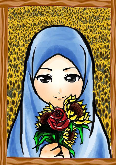 gambar kartun perempuan muslimah ajilbab portal apps directories