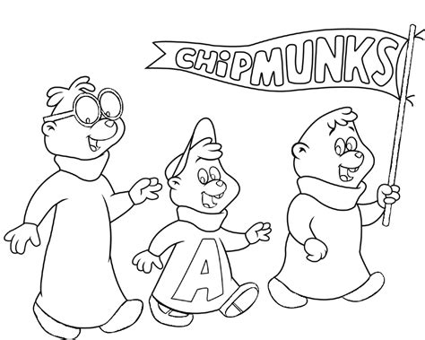 alvin and the chipmunks squeakquel coloring pages