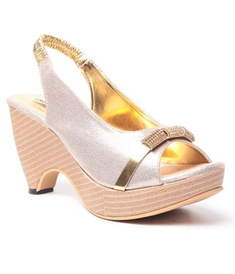 Wedges Gold 1 feel it gold wedges sandals price in india buy feel it
