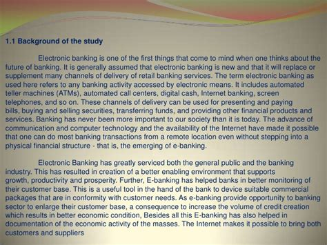 Bank Essay by E Banking Thesis
