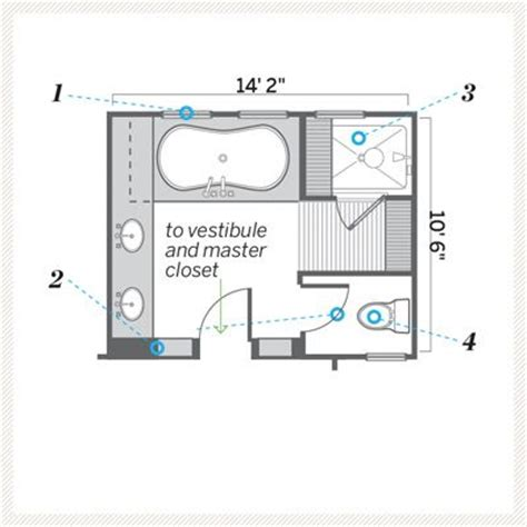 master bathroom floor plan a moved and improved master bath
