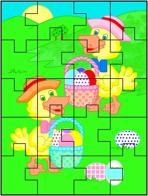 easy printable jigsaw puzzles free printable easter jigsaw puzzles holidays at kid scraps