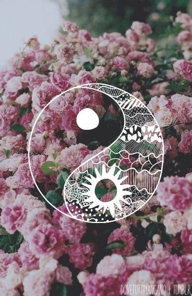 imagenes de flores we heart it flowers love tumblr we heart it ying yang image