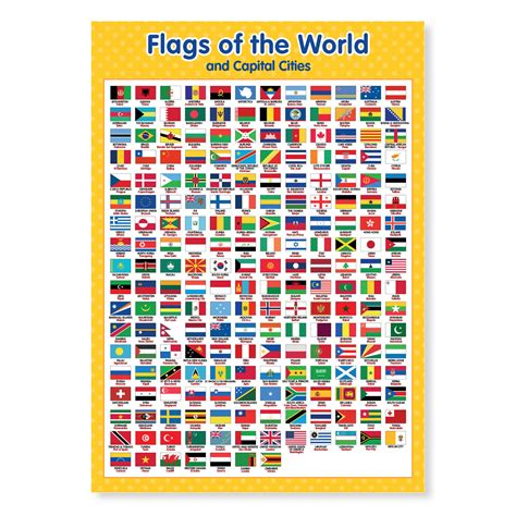 flags of the world poster a3 flags of the world and capital cities funky monkey house