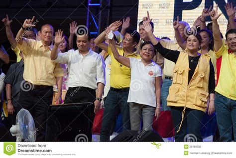 philippines senatorial candidates philippine senatorial election kicks off editorial stock