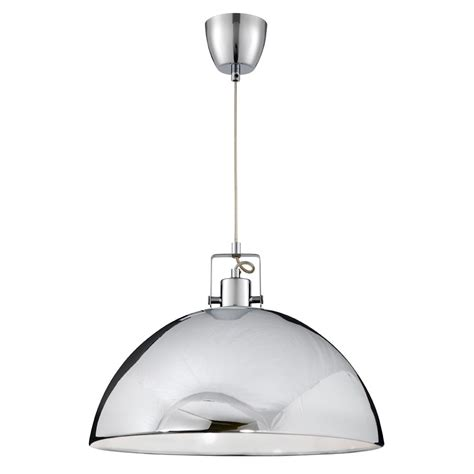 Ceiling Pendant Lights Searchlight 9140cc Pendants 1 Light Polished Chrome Ceiling Pendant
