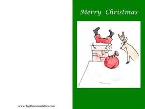 Free printable funny christmas greeting card template