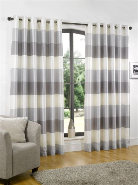 striped curtain panels horizontal riviera silver ready made curtains from 163 24 63 50 off