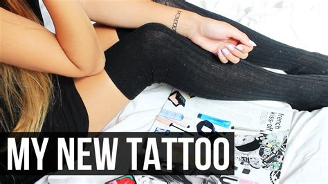 make tattoo pain go away i got a tattoo pain experience laurdiy youtube